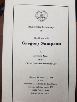 Gregory Sampson Investiture